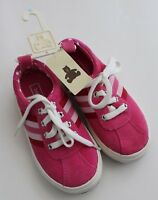Baby Gap Girls Suede Leather Tennis Shoes Sneakers Lace Pink Size 10 NEW