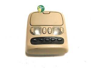 2001-2006 Toyota Sequoia TAN Overhead Console Sun Roof Switch Dome Lights Map