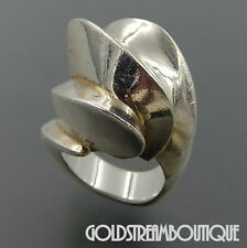 BAYANIHAN MIKAL JON STERLING SILVER MODERNIST HIGH DOME COCKTAIL RING 6.5 #06409