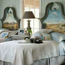 Wisteria Exclusive Headboard Hand-painted Buenos Dias Landscape - Gorgeous!