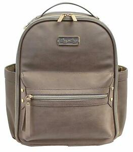 Itzy Ritzy Mini Baby Diaper Bag Backpack Changing Pad Taupe NEW