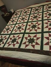 Handcrafted Quilt Stars 100% Cotton Front/ Back Fill 100 Polyester Full/queen.