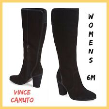 NWOB Designer Vince Camuto Framina Black Leather Boot Sz:6M