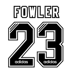 Liverpool Name Set 1994-95 ANY NAME/NUMBER Flock Player Size Away Shirt Fowler