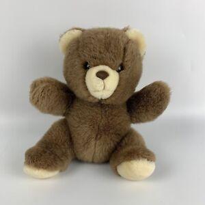 "Vintage 1986 Applause JESSE 9"" Sitting Brown Teddy Bear Plush #4660"