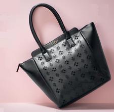 Lipsy Laser Cut Black Tote Handbag
