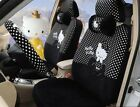 1 Sets Black Plush Hello Kitty Universal Car Seat Cover Cushion Accessory Tla8