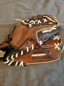 FRANKLIN Leather Baseball Fielding Glove RTP/Ready To Play  Brown SLIGHTLY USED