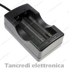 Caricabatterie doppio per batteria al litio li-ion lir icr 18650 battery charger