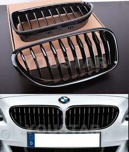 Express X2 Individual GLOSS BLACK Grilles for BMW 6 Series M6 F06 F12 F13 640i