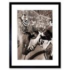 Sport Photo Ice Hockey Slam Howe Hannigan Cool Framed Art Print 12x16 Inch