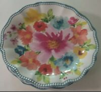 The Pioneer Woman Breezy Blossoms Melamine Salad Appetizer Plate Set of 4 NEW 🎁