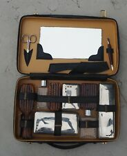 Vintage France Cordoual Men's Grooming Large 11 Piece Kit