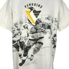 Pittsburgh Penguins T Shirt Vintage 90s All Over Print NHL Hockey Size XL
