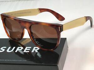 RetroSuperFuture Flat Top Francis Havana Frame Sunglasses 378 NIB