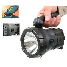 Rechargeable LED Work Light Torch Solar Powered 1W LED Power Spotlight Hand Lamp