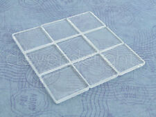 """20 Square Glass Tiles - 1 3/16 Inch - Clear - Necklaces Pendants - 1 3/16"""" 30mm"""