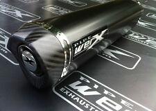 Yamaha Yzf R6 2003-2005 Black Tri Oval, De Carbón De Salida De Escape, puede. camino legal