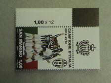 SAN MARINO 2013 francobollo BORDO SUPER. SX JUVENTUS CAMPIONE ITALIA 2012 2013