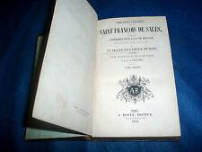 SAN FRANCESCO DI SALES Traité de l'amor de dieu ROYER 1843