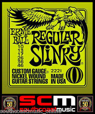 REGULAR SLINKY 2221 ERNIE BALL ELECTRIC GUITAR STRING SET 10-46 GAUGE STRINGS
