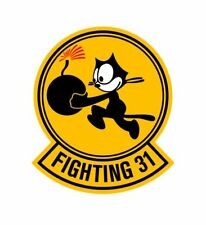 "USN US Navy Fighting 31st Tomcatters Felix 4"" Decal NEW"