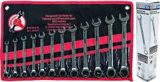 BGS diy Ratschenschlüssel Ringmaul Schraubenschlüssel Satz 12-teilig 8-19 mm