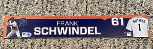 MLB Authenticated - Frank Schwindel Locker Tag Issued by Detroit Tigers
