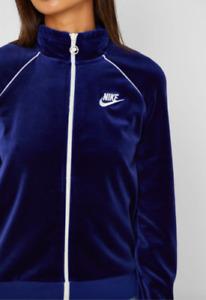 Nike Women's S M L XL Sportswear Velour Jacket CJ4912 492 blue
