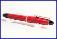 1950er Jahre Kolben Füller mit vergoldeter Feder flexibel Rot & Schwarz