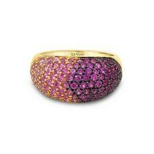Levian 14K Oro Amarillo Zafiro Rosa forma de domo clásico Ombre cóctel anillo de banda