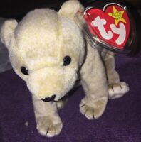 Ty Beanie Baby Almond The Bear Retired 1999 Plush Toy With Tag Protector