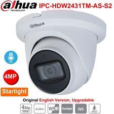 Dahua 4MP Starlight IPC-HDW2431TM-AS-S2 IP Camera IR WDR IVS H.265 PoE IP67 Mic