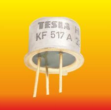 KF517A LOT OF 5 TESLA SILICON PNP TRANSISTOR 0.8 W 0.6 A GOLD