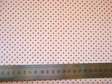 RESTSTÜCK 0,9m Baumwollstoff Punkte Dots weiß-orange