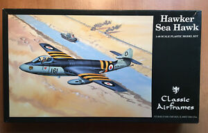Hawker Sea Hawk - Classic Airframes 1/48 scale unassembled aircraft kit#465