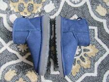 UGG AUSTRALIA CLASSIC MINI NAVY BLUE BOOTS, SHIMMER, NWOB, 6M