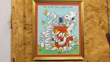 Vintage Schulz Snoopy Print- The Floppy Disc Jockey Is In