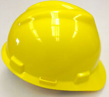 20-EA MSA V-Gard Yellow Safety Hard Hat Head Protection Construction Ratchet