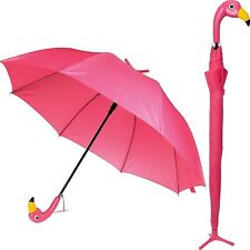 Umbrella Womans Flamingo Pink Bird Handle with Stand Novelty Gift for Mum New