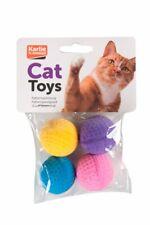 Karlie Flamingo Katzenspielzeug Soft Ball 4 Stück