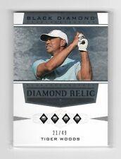 Tiger Woods 2021 Artifacts Golf Quad Diamond /49 Black Diamond Relic SSP 1/1