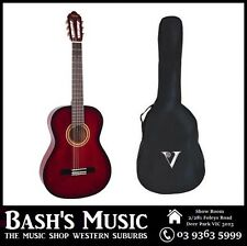 Valencia 3/4 Size Guitar and Bag Pack Beginners Guitar Red NEW