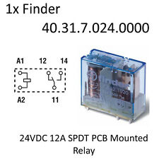 1x Finder 40.31.7.024.0000 24VDC 12A SPDT PCB Mounted Relay