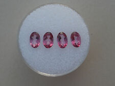 4 Pink Topaz Oval Gems 6x4mm each