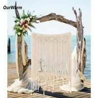 Macrame Backdrop Curtain Hanging Boho Wedding Hanger Cotton Wall Art Home Decor