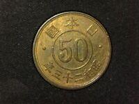 50 sen de 1948 de Japón Hirohito Showa (A3)