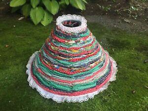 Vintage Quilt Blanket Mid Modern Shade Handmade Lampshade cottage colorful OOAK