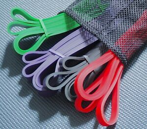 Heavy Duty Resistance Band Set Elastic Loop Gym Exercise Workout Fitness Pull Up