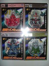 MS Gokin III diecast SD Gundam 4 figure set - Prototype, Char's Gelgoog, Zeong